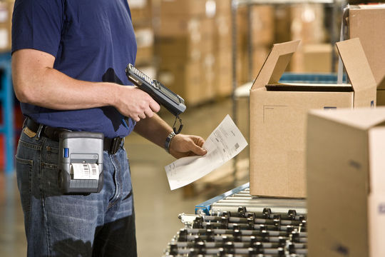 PDA utilisé dans un entrepôt