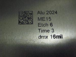 code datamatrix marqué grâce à une machine de marquage